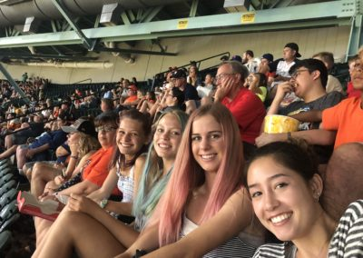 Houston Astros Game - Natalie, Claire, Allie, Nikki